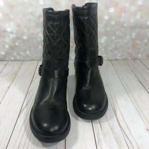 AQUATALIA Quilted Sweetie Black Boots Size 8.5